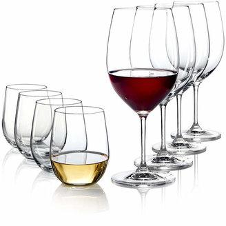 Riedel Vinum Cabernet and O Chardonnay Wine Glasses 8 Piece Value Set