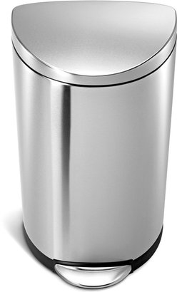 Simplehuman Brushed Stainless Steel 30 Liter Semi Round Step Trash Can