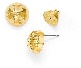 Tory Burch Small Domed Logo Stud Earring