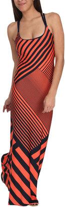 Arden B Pieced Stripe Maxi Dress