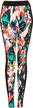 Topshop Tall Marble Scuba Leggings
