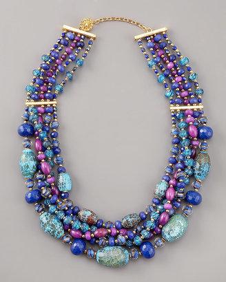 Jose & Maria Barrera Multi-Strand Beaded Necklace