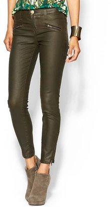 Current/Elliott The Wax Coated Soho Zip Cropped Stiletto