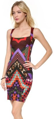 Just Cavalli Sleeveless Print Dress