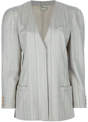 Krizia Pre-Owned pin stripe skirt suit