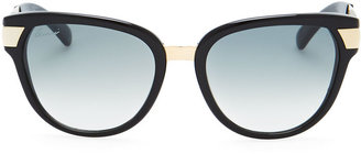 Gucci Gradient Sunglasses, Black/Green