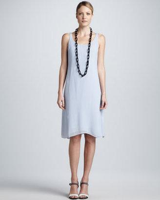 Eileen Fisher Silk Georgette Dress