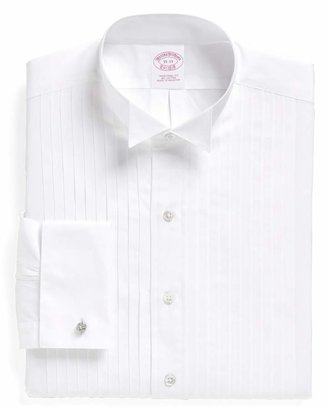 Brooks Brothers Traditional Fit Ten-Pleat Wing Collar Tuxedo Shirt