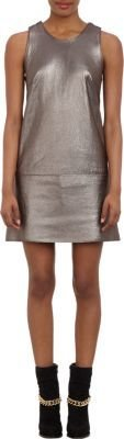 3.1 Phillip Lim Two-Tone Leather Shift Dress