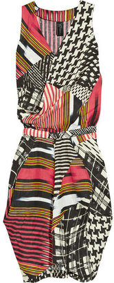 Zero Maria Cornejo Zazi tribal print linen dress