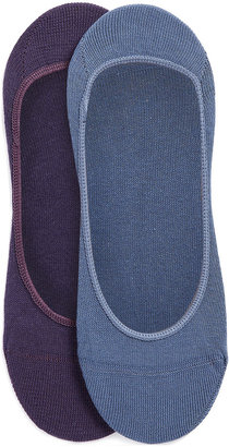 Topman Blue And Plum Invisible Socks 2 Pack