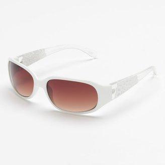 Elle TM cutout rectangle sunglasses