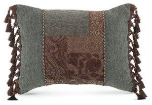 "Croscill Galleria Brown 20"" x 15"" Boudoir Decorative Pillow Bedding"