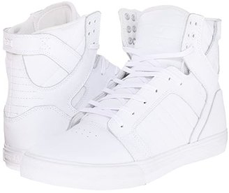 Supra Skytop (White/White/Red/White) Men's Skate Shoes