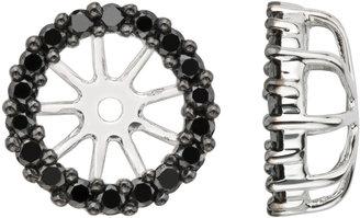 Black Diamond 1/2 Carat 14K White Gold Earring Jackets