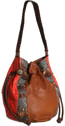 The Sak Indio Leather Drawstring (Feather Patchwork) - Bags and Luggage