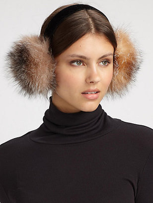 Saks Fifth Avenue Collection Fox Fur Earmuffs