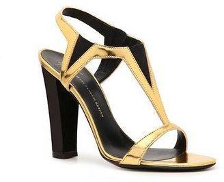 Giuseppe Zanotti Metallic Patent Leather Stretch Sandal