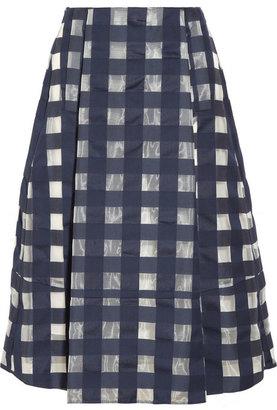Marni Checked cotton-blend jacquard skirt