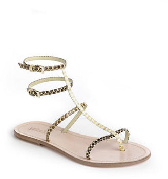 Sebastian Strappy Snakeskin Leather Sandals