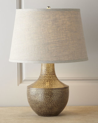 """Jamie Young Kettle"""" Hammered Metal Lamp"""