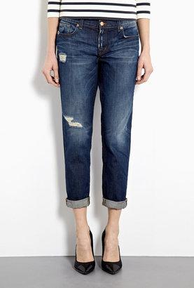 J Brand Denim Aiden Distressed Boyfriend Jeans