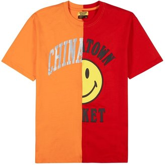 Chinatown Market X Smiley Two-tone Printed Cotton T-shirt