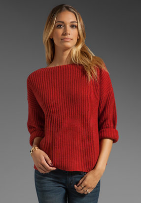 Vince Ribbed Boatneck Sweater