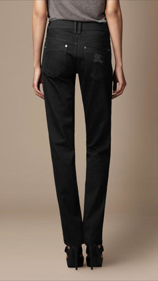 Burberry Black Straight Leg Jeans