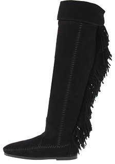 Minnetonka Over-The-Knee Fringe Boot