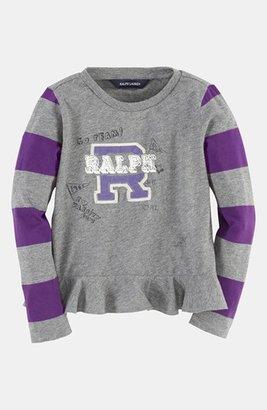 Ralph Lauren Long Sleeve Top (Toddler Girls)