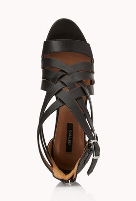 Forever 21 posh play strappy sandals
