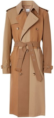 Burberry Panelled Cotton Trench Coat