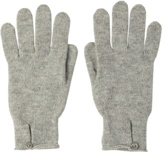 Johnstons of Elgin Button Loop Womens Cashmere Gloves Silver