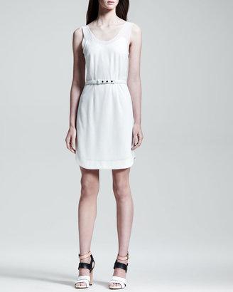 Rag and Bone Rag & Bone Dana Belted Knit Dress, White