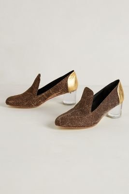 Anthropologie Arden Wohl Golden Carrington Loafers