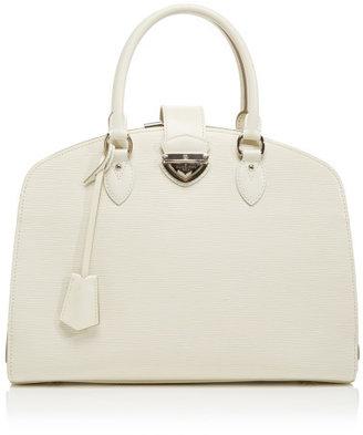 Louis Vuitton Vintage White Epi Pont Neuf Gm Bag Blue