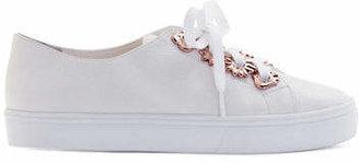 Sophia Webster Penny Flower Leather Low-Top Sneakers
