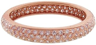 Couture Sethi Wide Pave Pink Diamond Ring - Rose Gold