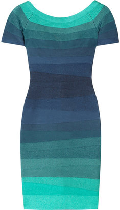 Herve Leger Ombré bandage dress