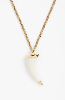 Vince Camuto 'Neutral Territory' Horn Pendant Necklace Eggnog/ Gold