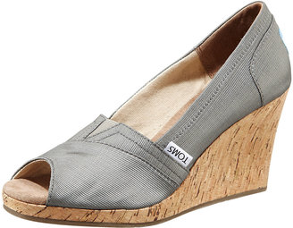 TOMS Shoes Rowan Cork Wedge Heel