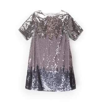 Chloé Girl's Sequin Short Sleeve Dress - Multicolored