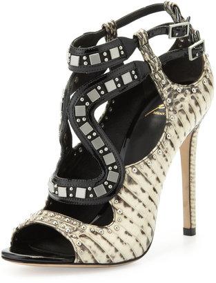 Brian Atwood Lavela Studded Snake Sandal