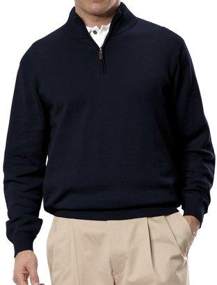 Jos. A. Bank Signature Pima Cotton Half-Zip Sweater Big/Tall