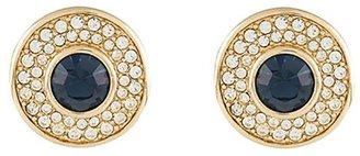 Susan Caplan Vintage 1980s Vintage Swarovski Round Clip-on Earrings
