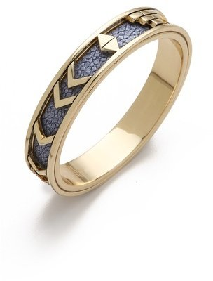 House Of Harlow Blue Star Aztec Bangle