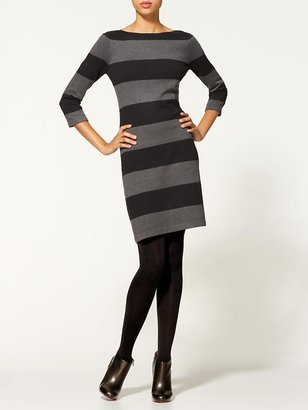 Calvin Klein Color Block Long Sleeve Sweater Dress