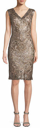 Tadashi Shoji Beautiful Metallic Cocktail Dress