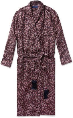 Derek Rose Otis Paisley-Print Silk Dressing Gown
